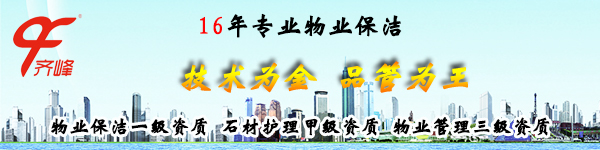 齐峰16年专业物业保洁